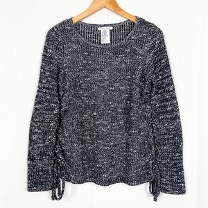 American Eagle Side Lace Marled Sweater Small